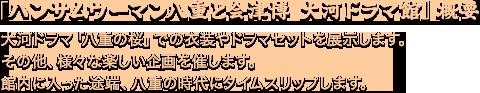 「ハンサムウーマン八重と会津博 大河ドラマ館」概要